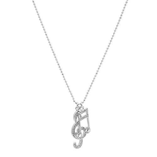 Spinningdaisy Various Crystal Ottava Necklace