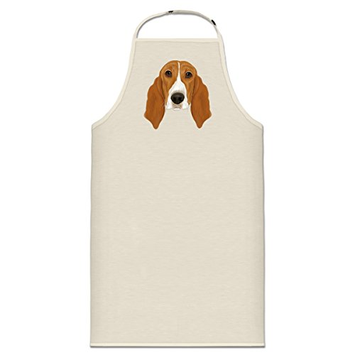Shirtcity Basset Hound Cooking Apron One Size (Hound Adult Sweatshirt)