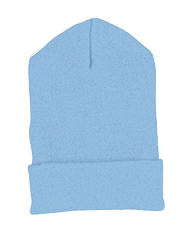 Yupoong Cuffed Knit Cap (1501)- CAROLINA BLUE, - Knit Yupoong Cuffed Cap 1501