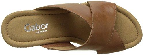 Brown Gabor Heels Comfort Sandals Peanut Wedge Bast Women's rtXwr