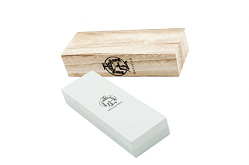 Handmade Sword – Masahiro Double Side Whetstone, Rough /400, Medium /1000, Swords Blade Sharpening Stone