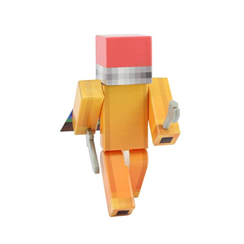 Minecraft Costume Mod Popularmmos (Pencil Boy Action Figure Toy, 4 Inch Custom Series Figurines by EnderToys)