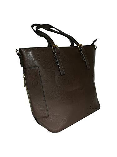 d4fb9921de Ak Borsa Sintetica Donna In Chic Caffe E Tracolla Mano Con Cerniera Bags' A  Pelle rSwrqF