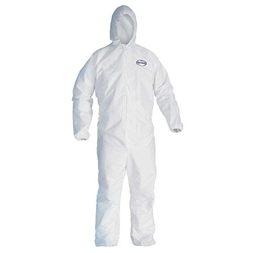 Kleenguard A30 Breathable Splash and Particle Protection Coveralls (46115), REFLEX Design, Hood, Zip Front, Elastic Wrists & Ankles (EWA), White, 2XL, 25 / Case by Kimberly-Clark Professional (Image #2)