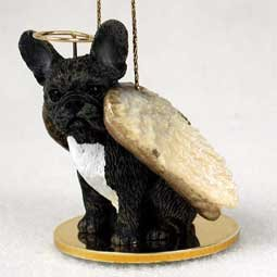 French Bulldog Tiny One Dog Angel Christmas Ornament (Insert Ceramic 3')