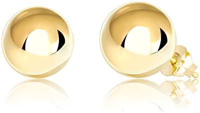 Aretes de bola de oro de 14 quilates 2 mm10 mm