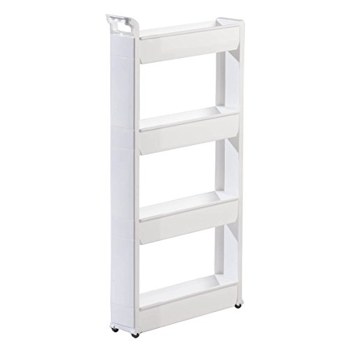 Miles Kimball Slim Storage Cart 4 Tier