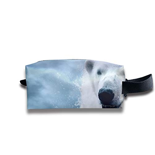 Toiletry Bag Melancholy Polar Bear Shaving Cosmetic Makeup Storage Travel Sundry Sewing Organizer Portable With Handle ()