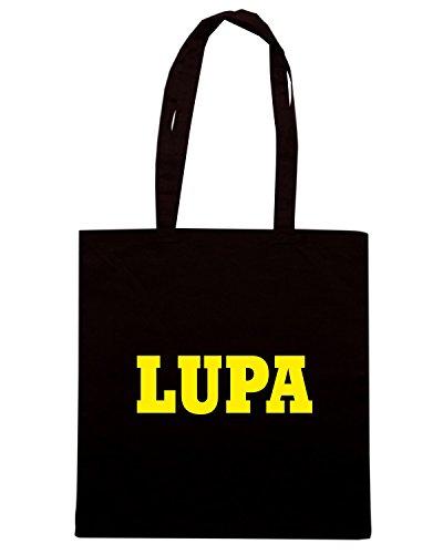 T-Shirtshock - Bolsa para la compra WC0953 LUPA ITALIA CITTA STEMMA LOGO Negro