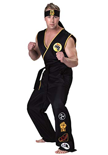 Karate Kid Cobra Kai Costume Small Black -