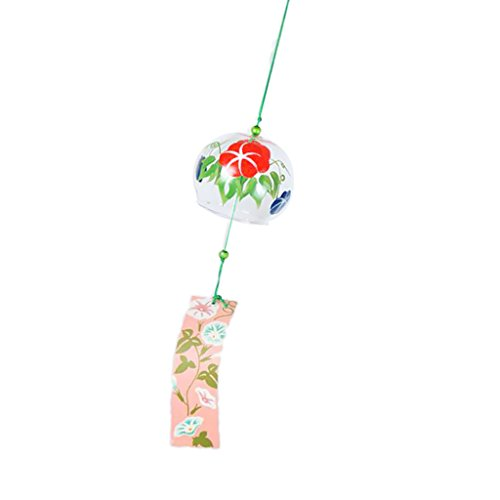 Generic Wind Chime Glass Wind Bell Window Garden Decor Lucky Ornament in Japanse Style 5 Choices - 4, 6x7cm