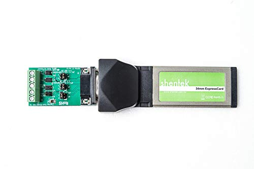 shentek Industrial 1 Port RS422 RS485 to ExpressCard Serial Adapter Card - PCIe Base