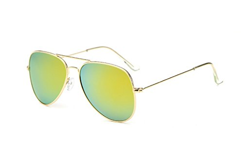 en Cadre de métal pour Le UV400 Lunettes l'homme d'aviateur avec Protection 5 6 Yxsd de Soleil Couleur PzwFWw8q