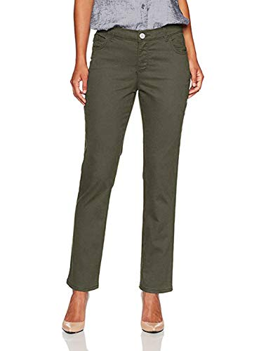 LEE Women's Petite Instantly Slims Classic Relaxed Fit Monroe Straight Leg Jean (Sage, 6 Petite)