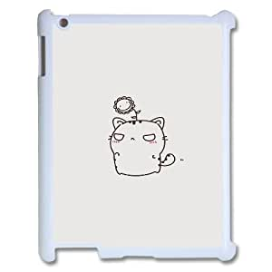 DIY Hard Back Cover Case with Cute Kitten for Ipad 2/3/4 at Hushell