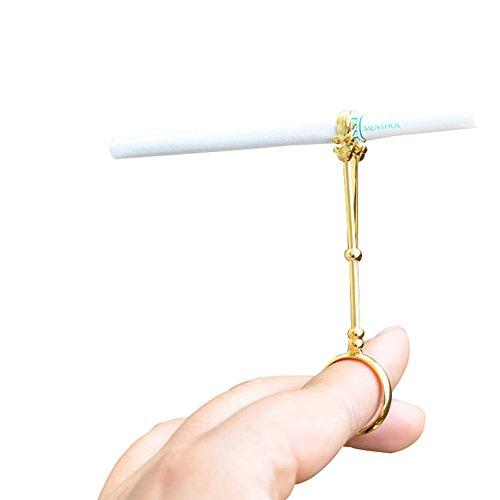 OLizee® Elegant Lady Smoker Cigarette Holder Ring(Golden,M) -