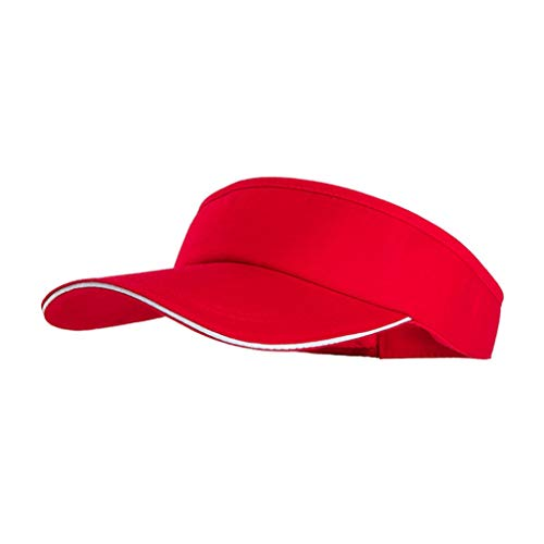 Visor Caps Summer Sun Hat Empty Top Hats for Men Women Sports Fitted Cap Motorcycle Bike Hat Red