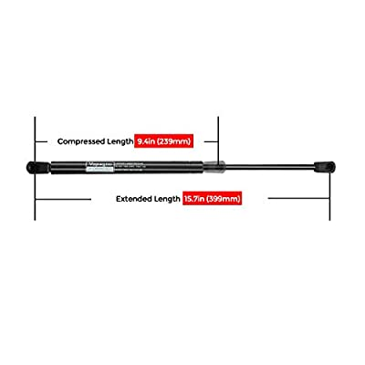 C16-09209 15.71 inch 38Lbs/169N Shocks Struts for Leer ARE ATC Camper Topper Rear Window, Truck Tonneau Cap Bed Cover, Pack of 2PCS.: Automotive