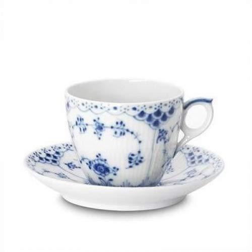 Royal Copenhagen Blue Fluted Half Lace 5.75 oz. Cup and ()