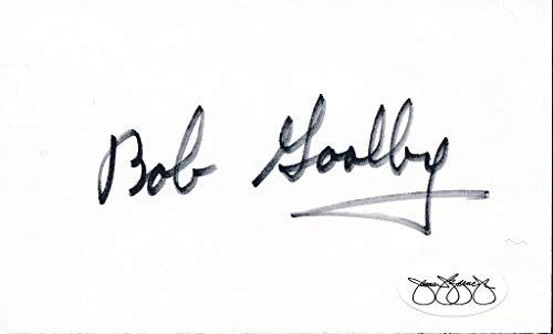 (Bob Goalby 1968 PGA Masters Tournament Champ Signed 3x5 Index Card JSA 143782)