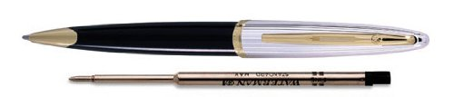 Waterman Carene Deluxe Black Lacquer/Silver With 2 Free Ballpoint Refills Ballpoint Pen - S0700000 by Waterman