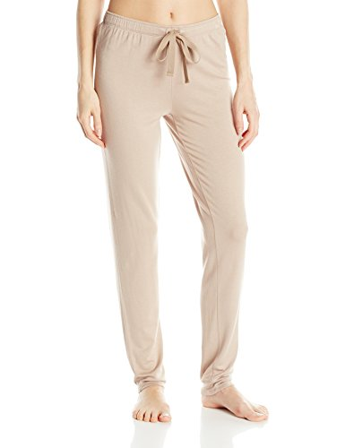 Natori Women's Terry Lounge Tapered Pants, Cashmere, Large