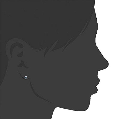Or Femme Bleu Jewelili 9 Rond Carats 3751000 Blancgold Diamant BoCxQreWd