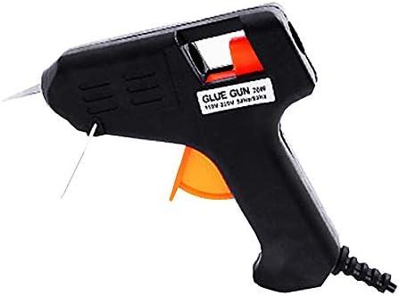 ホットメルトグルーガン、20Wミニグルーガン(7mmの接着剤スティックに適しています)-ブラックベルトブラケットグルーガン、DIY、クイック修理