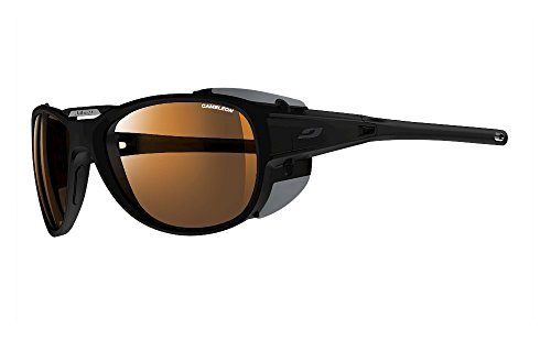 Julbo Explorer 2.0 Mountaineering Glacier Sunglasses - Camel - Matte Black/Black,One ()