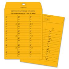 Inter-Dept Envelopes, 28 lb.,Self-Seal,10''x13'', 100/BX, BKFT, Sold as 1 Box, 100 Each per Box