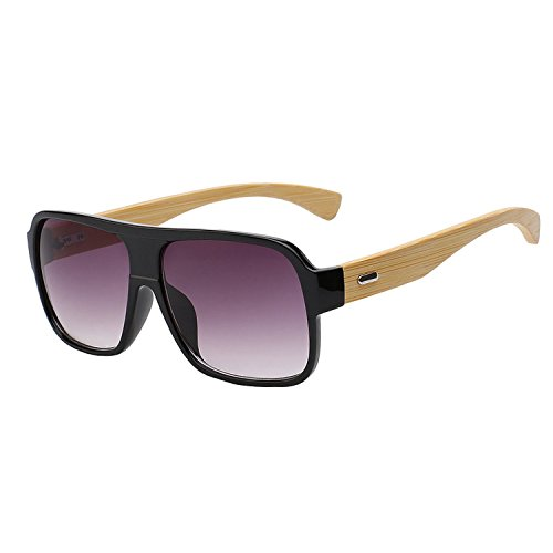 JapanX Bamboo Sunglasses & Wood Wooden Sunglasses for Men Women, Polarized Lenses with Gift Box – Wooden Vintage Wayfarer Sunglasses - Bamboo Wood Wooden Frame – New Style Sunglasses (Gloss - Nz Bamboo Sunglasses