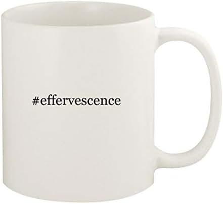 #effervescence - 11oz Hashtag Ceramic White Coffee Mug Cup, White