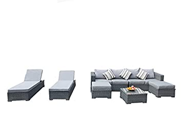 Amazon.de: yakoe 50156 288 x 144 x 68 cm Papaver 6-Sitzer-Sofa Sofa ...