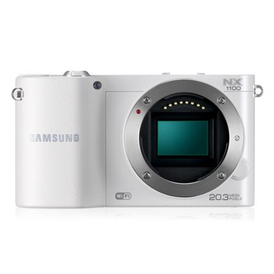 Samsung NX1100 Mirrorless Digital Camera Body Only (White) (International Model)