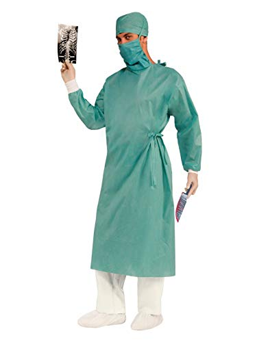 Forum Novelties Men's Master Surgeon Adult Costume, Green, One Size -