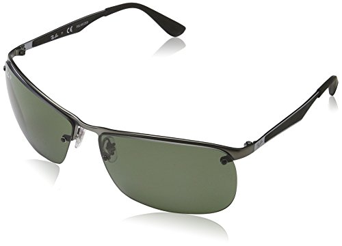 Ray-Ban Men's Metal Man Polarized Square Sunglasses, Matte Gunmetal, 64 - Sunglasses Ray Ban Cool
