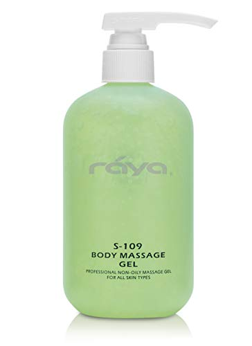 RAYA Body Massage Gel 16 oz (S-109) | Professional Quality, Oil-Free Massage Gel for All Skin | Softens Skin and Relieves Sore Muscles | Helps with ()