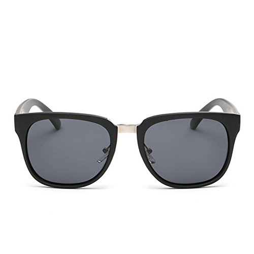 A-Roval Men Polarized Round Large Outdoor Touring Metal Sunglasses - Luxury Black Sunglasses Custom