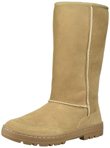 UGG Women's W Ultra Tall Revival Fashion Boot, Sand, 8 M US (Womens Ultra Tall Sand)