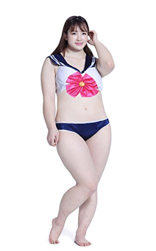 BS Japan Anime Uniforms [Plus size Sailor Moon Costumes] Swimsuits Bikini 3X-5X (22-32) (5X(30-32), (Plus Size Sailor Moon Costume)