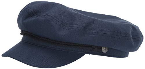 Brixton Men's Fiddler Greek Fisherman HAT, Washed Dark Navy, XL