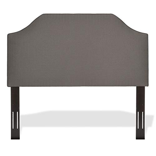 (Leggett & Platt Bordeaux Upholstered Headboard with Adjustable Height and Sweeping Curve Design, Dolphin Finish, Full /)