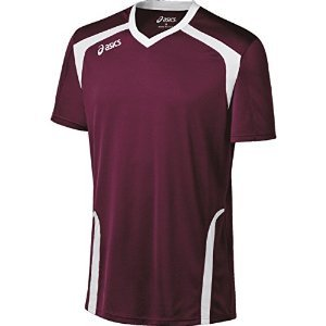 ASICS Men's Ace Jersey, Maroon/White, ()