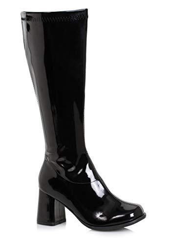 Ellie Shoes Women's GOGO-W Knee High Boot Black Patent 10 M US ()
