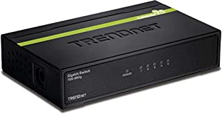 TRENDnet 5-Port Unmanaged Gigabit GREENnet Desktop Metal Switch, TEG-S50g, Ethernet Splitter, Ethernet/Network Switch, 5 x Gigabit Ports, Fanless, 10 Gbps Switching Fabric, Lifetime Protection (B001QUA6R0)   Amazon price tracker / tracking, Amazon price history charts, Amazon price watches, Amazon price drop alerts