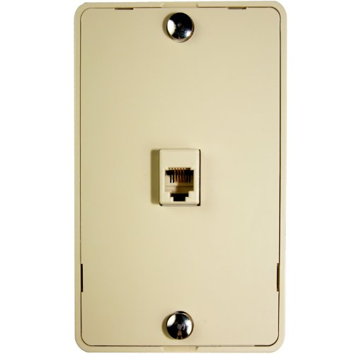 nt with Telephone Jack (1-Port) (Ivory) (Rj11 Wall Mount)