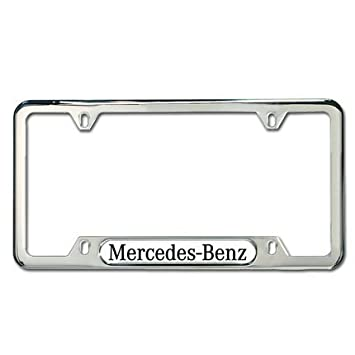 genuine mercedes benz polished stainless steel license plate frame