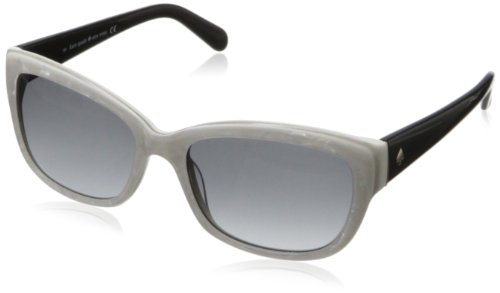 Kate Spade Women's Johans Round Sunglasses,Pearl White