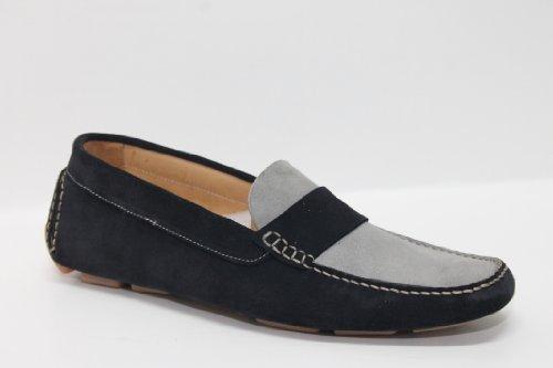 Car shoe camoscio blu e grigio