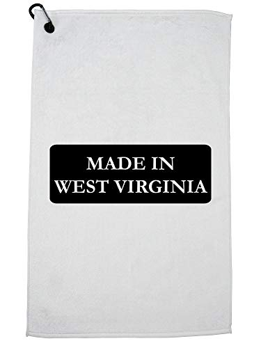 Hollywood Thread Hip Made in West Virginia State Pride Golf Towel with Carabiner Clip